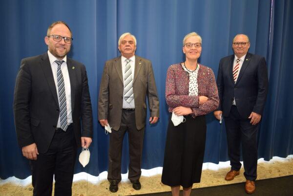 Der Bürgermeister und seine drei Stellvertreter