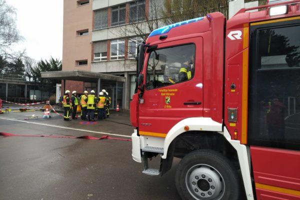 Feuerwehr Würselen am Gymnasium WÜrselen