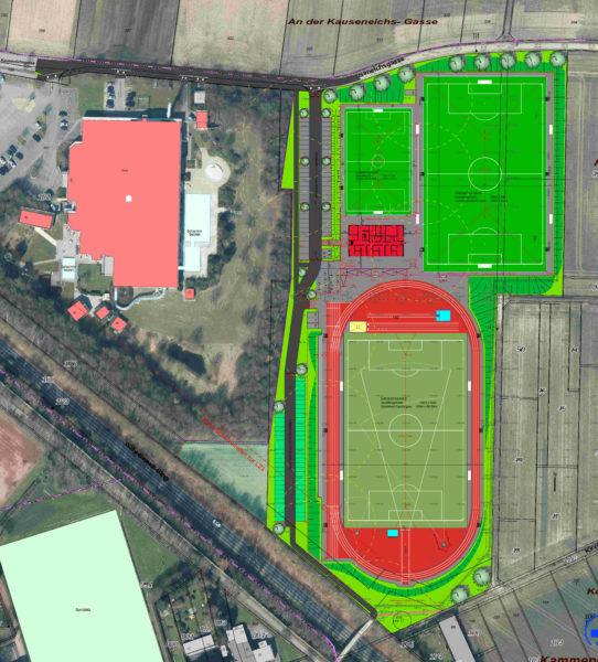 Lageplan Sportpark Jupp-Derwall-Stadion
