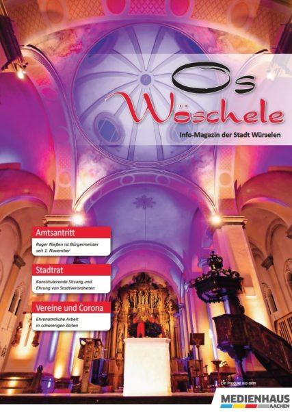 Titelblatt des Stadtmagazins Os Wöschele