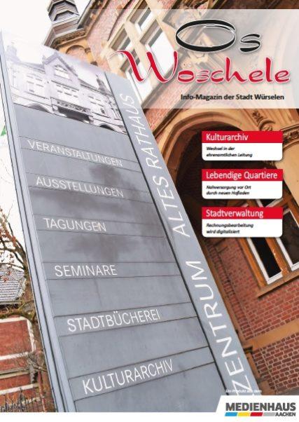 Titelblatt des Stadtmagazins Os Wöschele März 2021