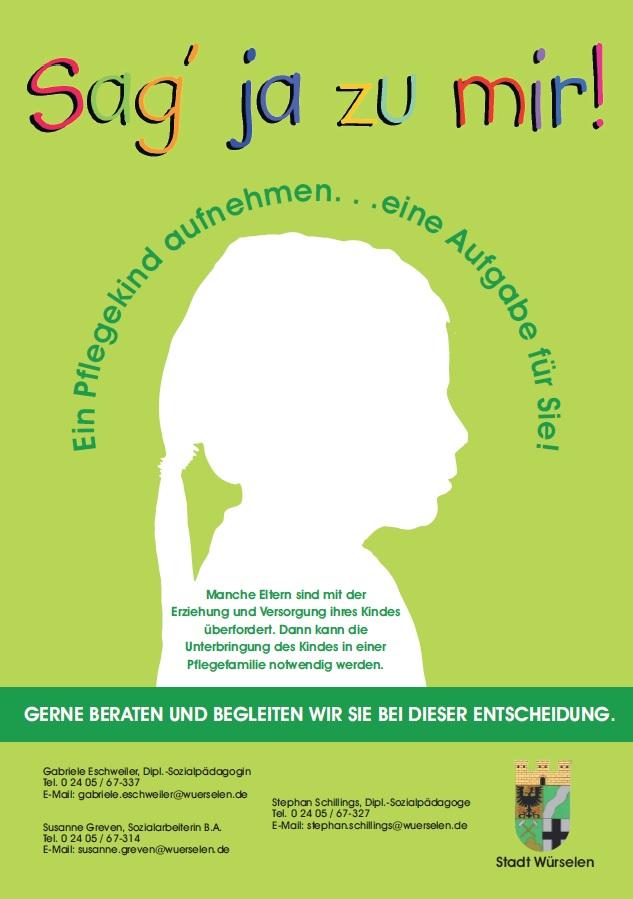Plakat Pflegekinderdienst